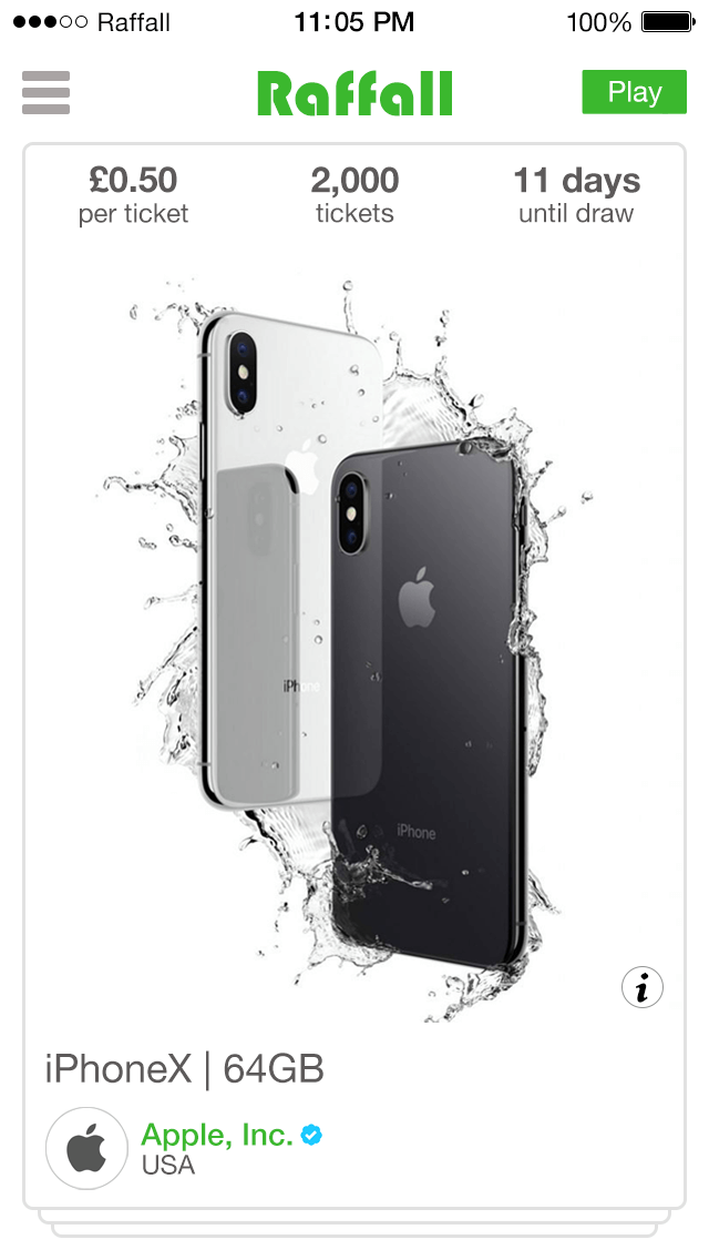 iphone-x raffle